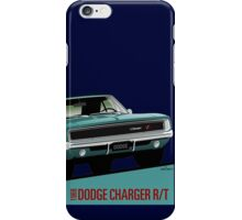 Dodge Charger R/T 1968 turquoise iPhone Case/Skin