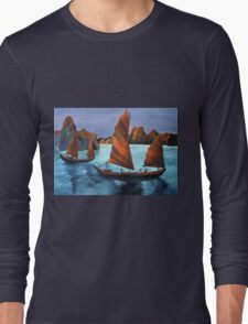 Junks In the Descending Dragon Bay Long Sleeve T-Shirt