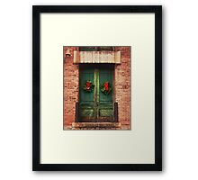 Christmas At The Artist Loft Framed Print