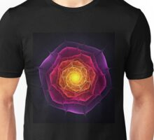 Dark fractal flower Unisex T-Shirt