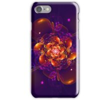 Dark purple fractal flower iPhone Case/Skin