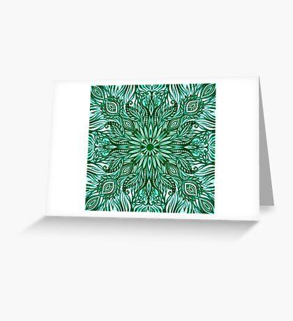 - Emerald pattern - Greeting Card