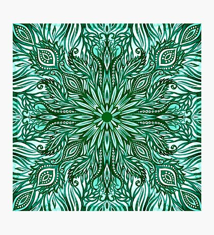 - Emerald pattern - Photographic Print