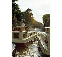 Locks filling, Canal Du Midi, France, 1980's Photographic Print