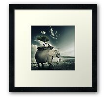 There's so much to see, son. Framed Print