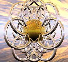 Spiral Knot - Firestorm by Hugh Fathers