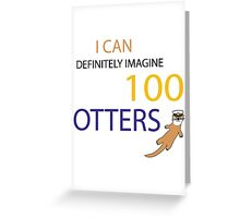 100 Otters Greeting Card