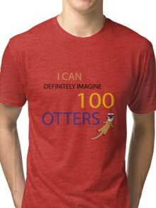 100 Otters Tri-blend T-Shirt