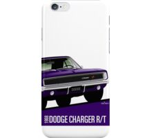 Dodge Charger R/T 1968 purple iPhone Case/Skin