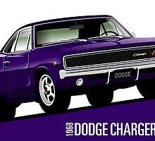Dodge Charger R/T 1968 purple by car2oonz