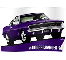 Dodge Charger R/T 1968 purple Poster