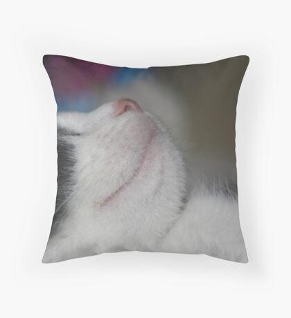 let sleeping cats lie Throw Pillow