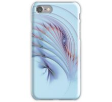 Fractal Flame Abstract Feather Background iPhone Case/Skin