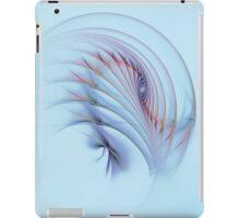 Fractal Flame Abstract Feather Background iPad Case/Skin