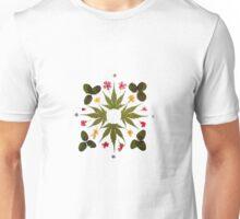 Dried Leaf Mandala Unisex T-Shirt