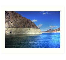 Sunshine on Lake Mead - Las Vegas, Nevada Art Print