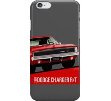 Dodge Charger R/T 1968 red iPhone Case/Skin