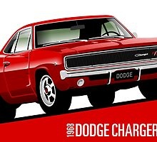 Dodge Charger R/T 1968 red by car2oonz