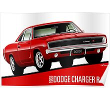 Dodge Charger R/T 1968 red Poster