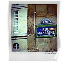 Mazarine Polaroïd Poster