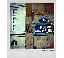 Mazarine Polaroïd Photographic Print