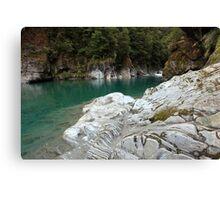 Blue Pools, West Coast, South Island, New Zealand Canvas Print