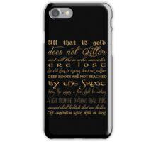 Riddle of Strider Poem iPhone Case/Skin