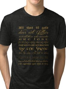 Riddle of Strider Poem Tri-blend T-Shirt