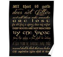 Riddle of Strider Poem Poster