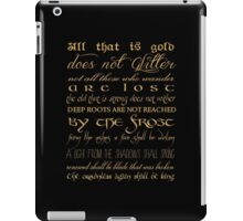Riddle of Strider Poem iPad Case/Skin