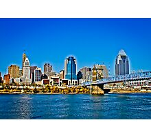 Cincinnati Skyline Photographic Print