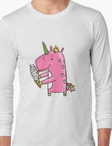 Unicorn and ice cream Long Sleeve T-Shirt