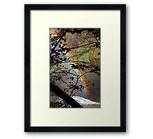 Peek-a-bow Framed Print