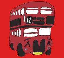Cute London Bus One Piece - Long Sleeve