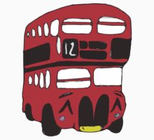 Cute London Bus Kids Tee