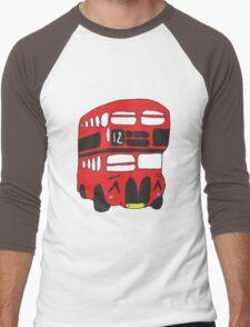 Cute London Bus Men's Baseball ¾ T-Shirt