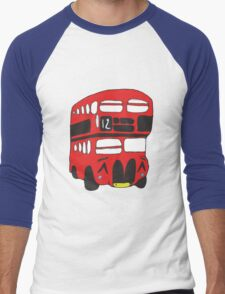 Cute London Bus Men's Baseball ¾ T-Shirt