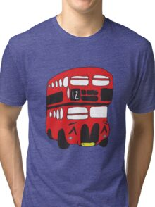 Cute London Bus Tri-blend T-Shirt