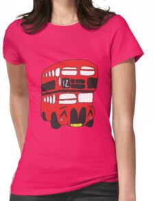 Cute London Bus Womens Fitted T-Shirt
