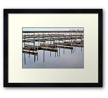 Slips into Silence Framed Print