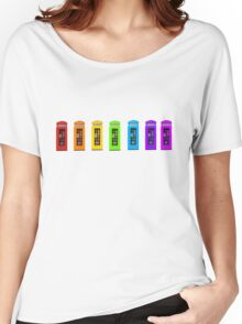 Rainbow Phone boxes  Women's Relaxed Fit T-Shirt