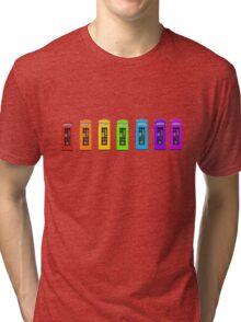 Rainbow Phone boxes  Tri-blend T-Shirt