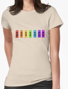 Rainbow Phone boxes  Womens Fitted T-Shirt