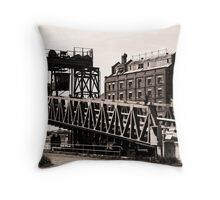 Old Shipping Ramp & Hart's Mill Throw Pillow
