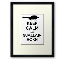 Destiny Keep Calm and Gjallarhorn Framed Print