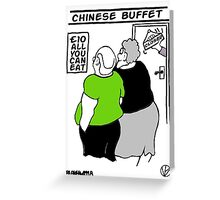 All You Can Eat For A Tenner. Greeting Card