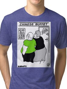 All You Can Eat For A Tenner. Tri-blend T-Shirt