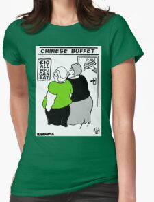 All You Can Eat For A Tenner. Womens Fitted T-Shirt