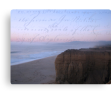 she sent him love letters written on the ocean sky Canvas Print