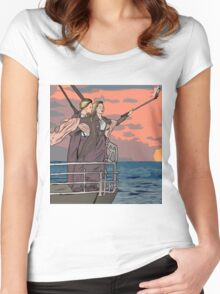 Titanic selfie Women's Fitted Scoop T-Shirt